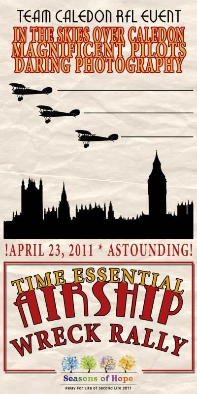 poster, Airship Wreck Rally